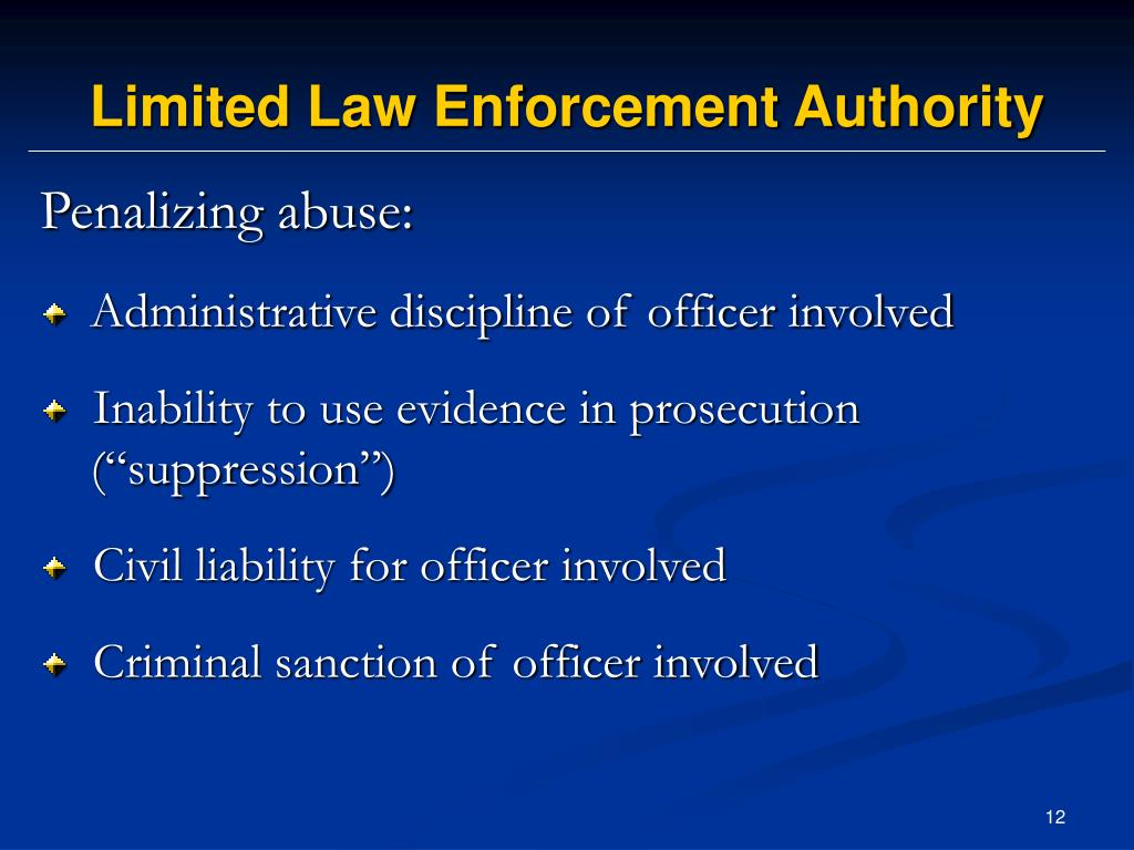 Limited Law Enforcement Authority