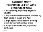 factors most responsible for wind erosion in iowa