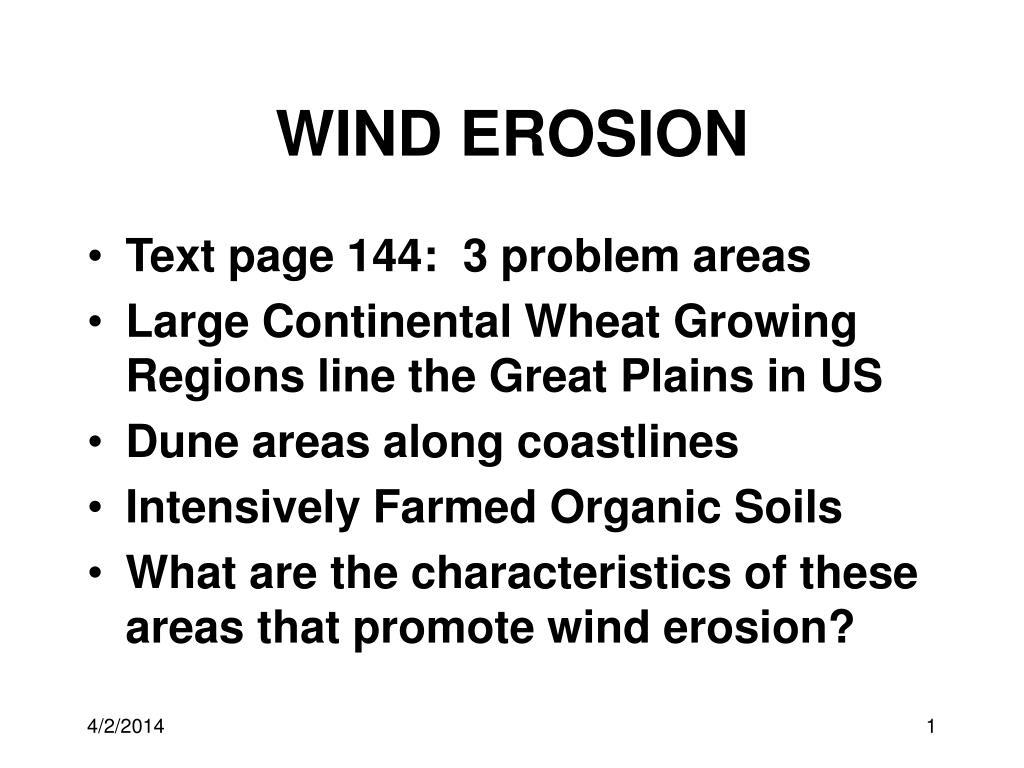 wind erosion l.