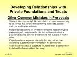 developing relationships with private foundations and trusts11