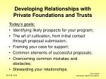 developing relationships with private foundations and trusts2