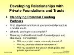 developing relationships with private foundations and trusts3
