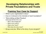 developing relationships with private foundations and trusts7