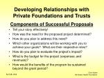 developing relationships with private foundations and trusts8