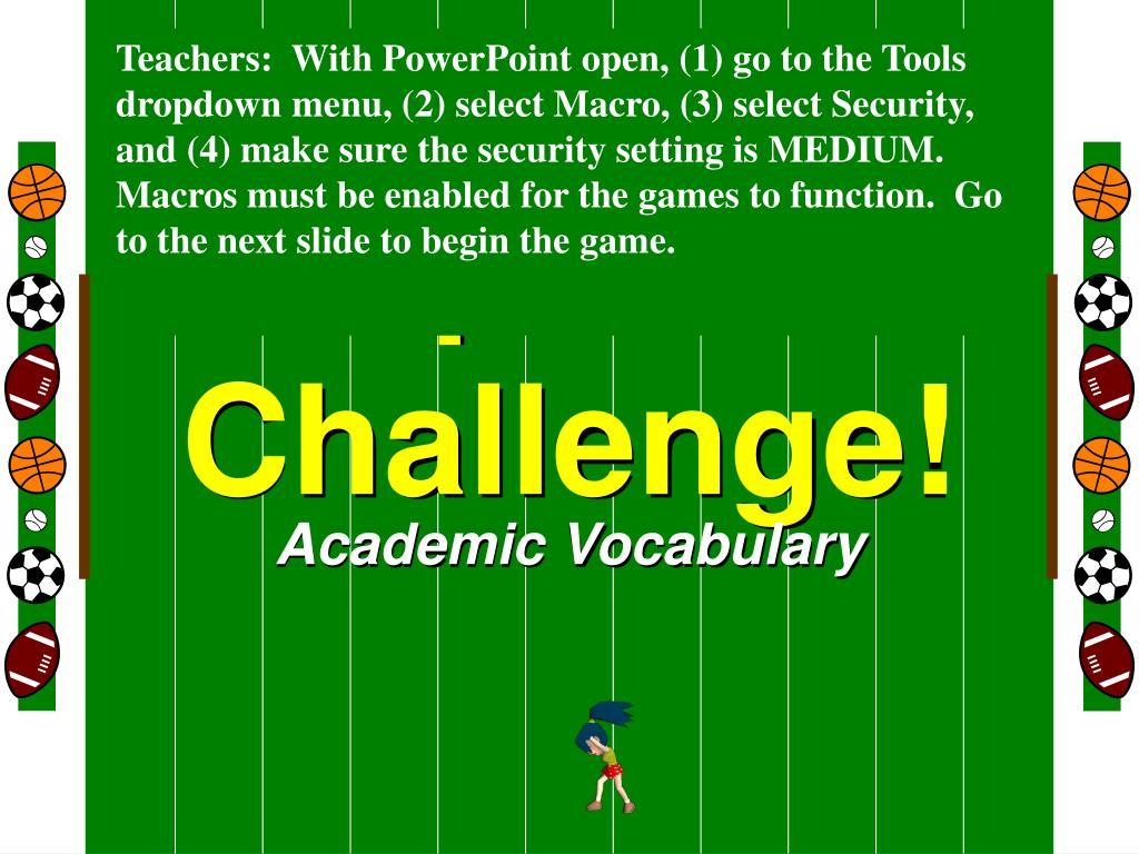 sports challenge l.
