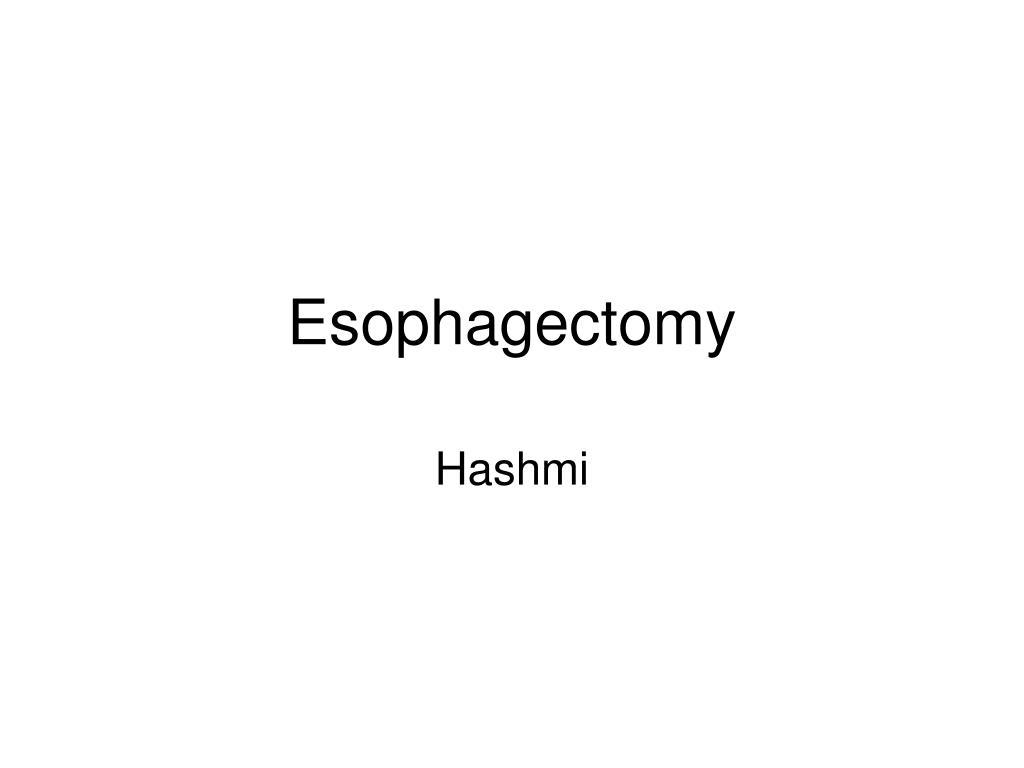 esophagectomy l.