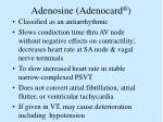 adenosine adenocard