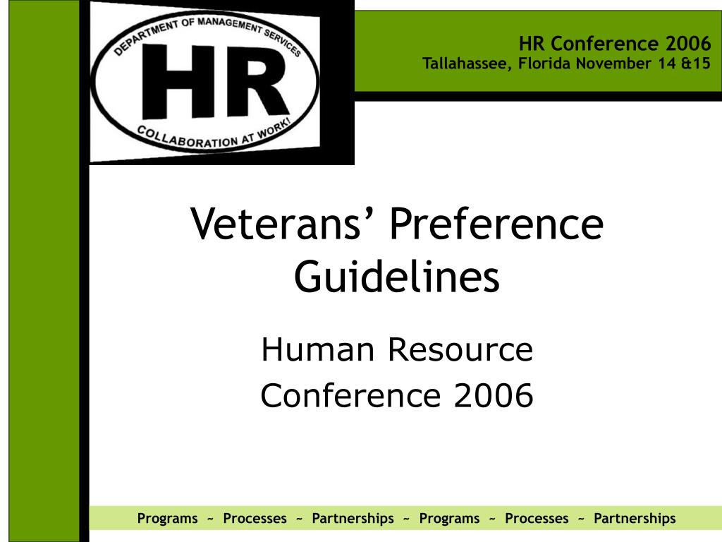 veterans preference guidelines l.