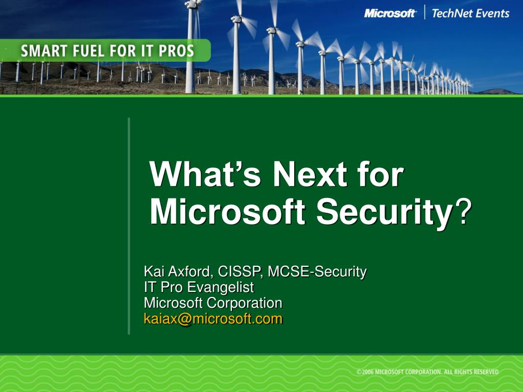 what s next for microsoft security l.