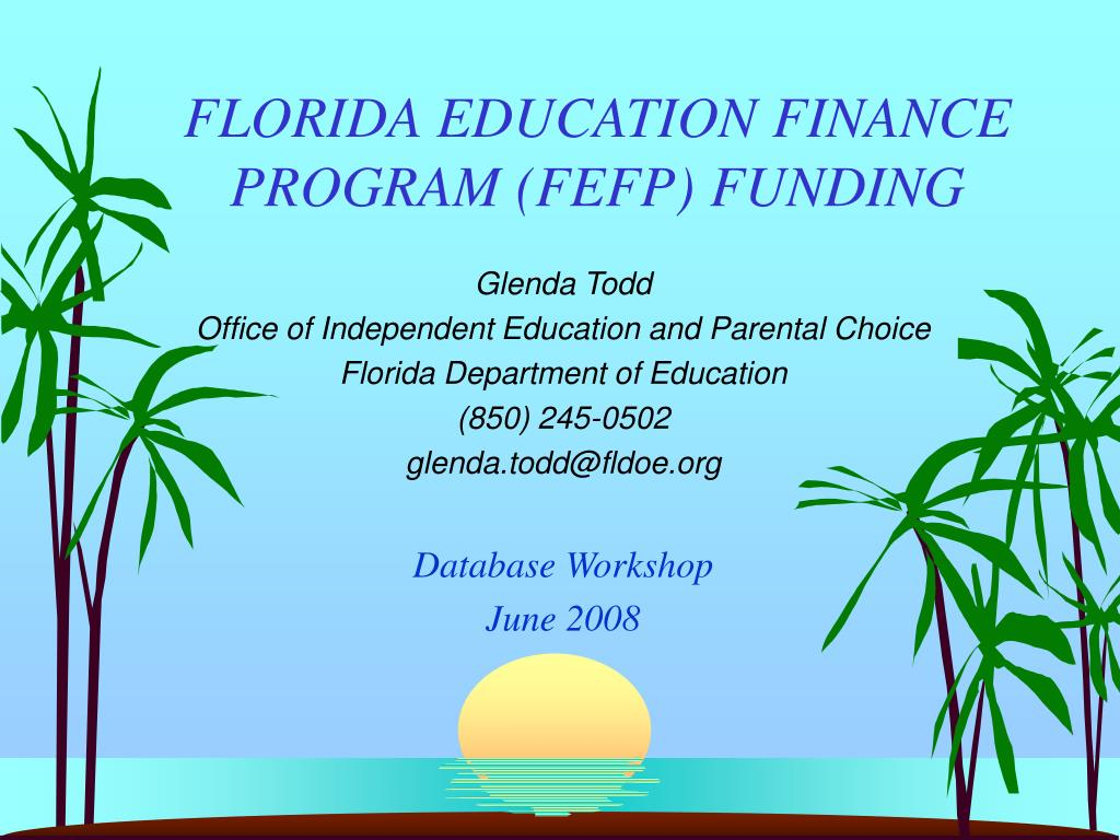 florida education finance program fefp funding l.