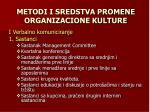 metodi i sredstva promene organizacione kulture