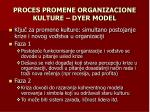 proces promene organizacione kulture dyer model