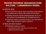 proces promene organizacione kulture lundbergov model