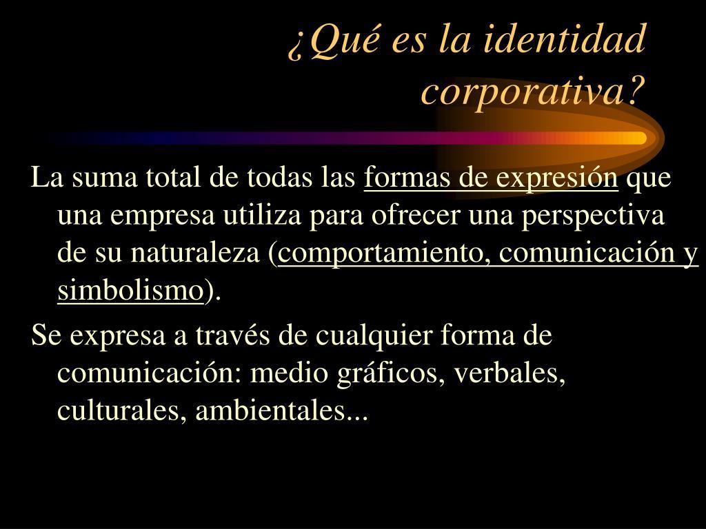 qu es la identidad corporativa l.