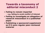towards a taxonomy of editorial misconduct 2