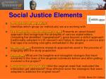 social justice elements