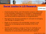 social justice in lis research