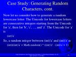 case study generating random characters cont59