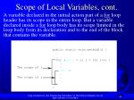 scope of local variables cont42