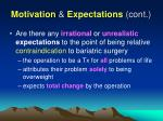 motivation expectations cont52