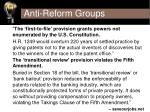 anti reform groups
