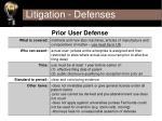 litigation defenses37