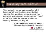 university tech transfer