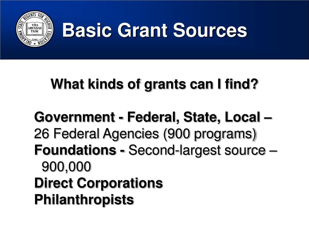 Basic Grant Sources
