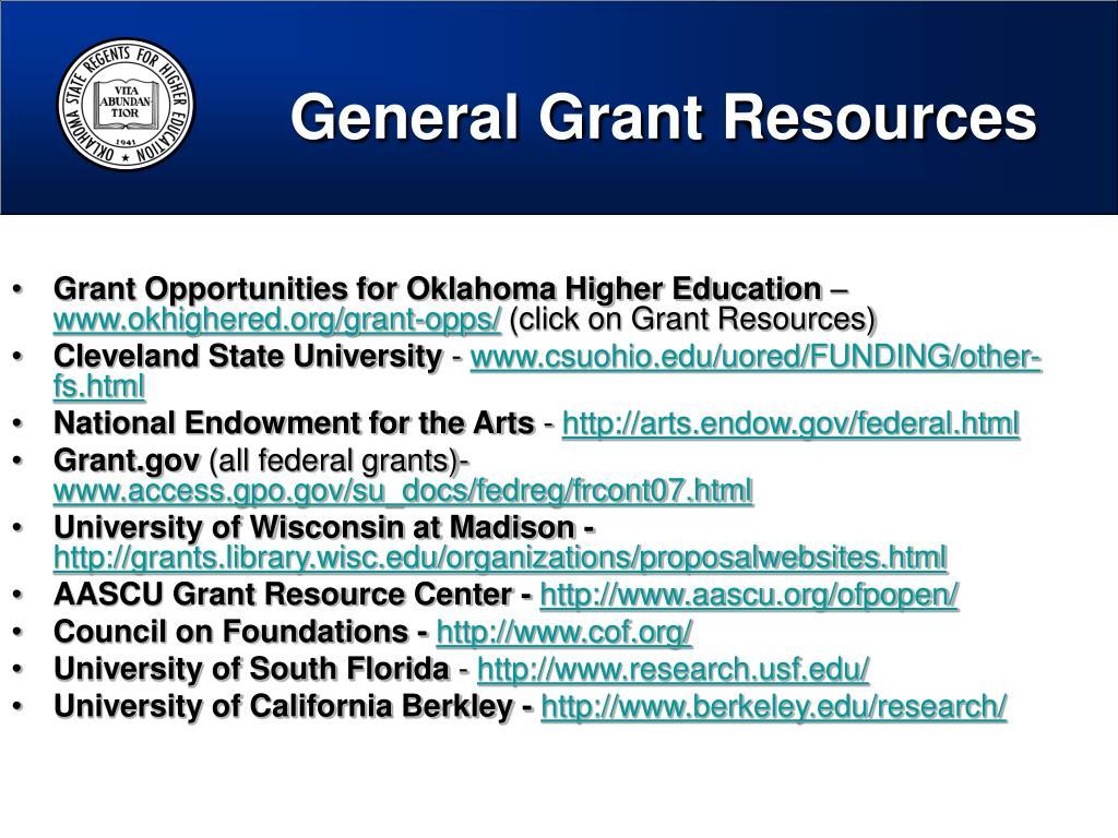 General Grant Resources