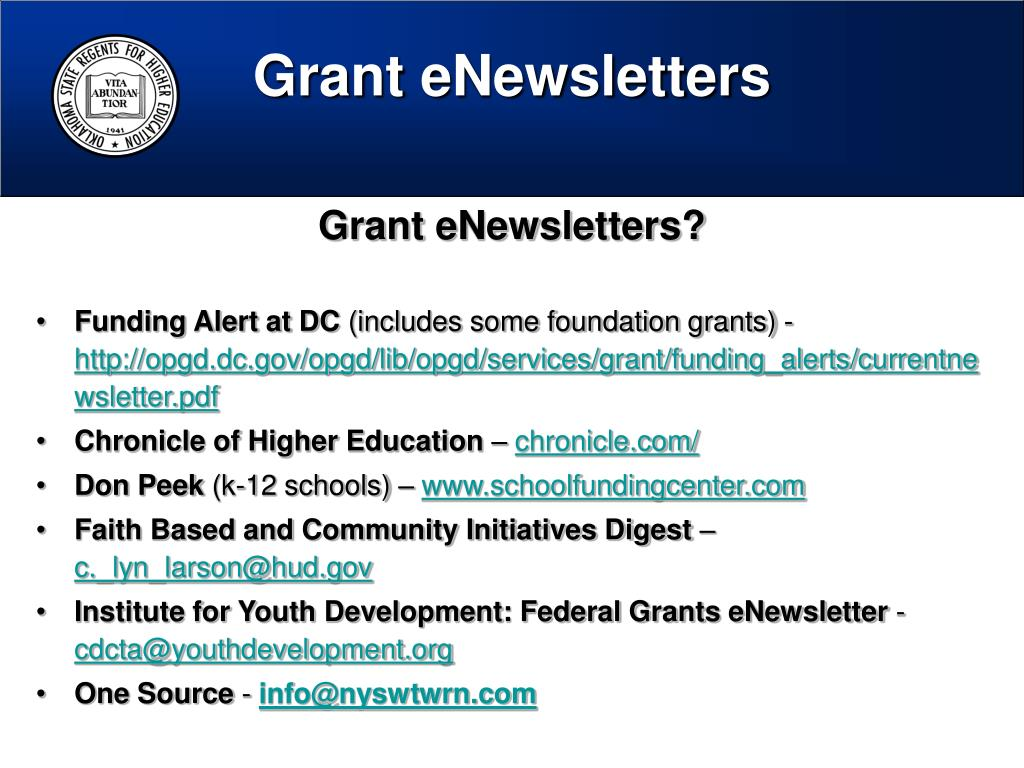 Grant eNewsletters
