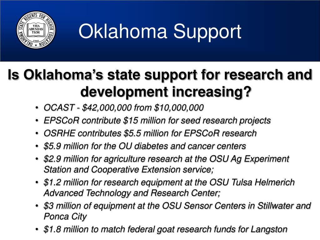 Oklahoma Support