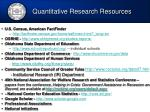 quantitative research resources