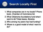 search locally first
