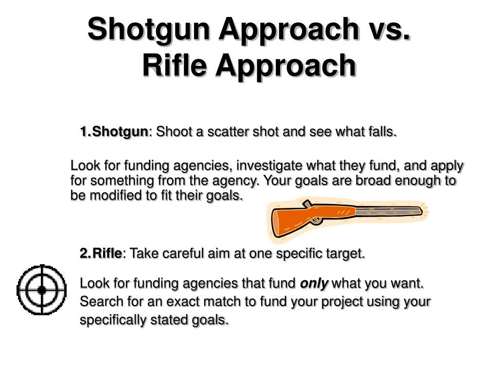 Shotgun Approach vs.