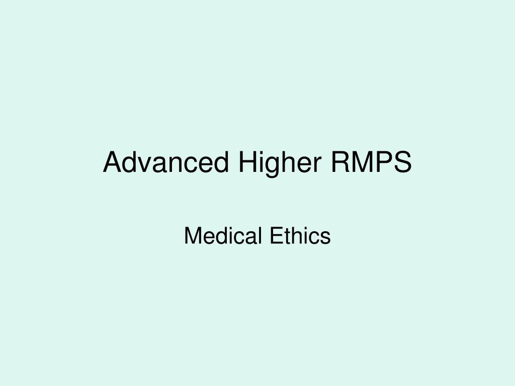 advanced higher rmps l.