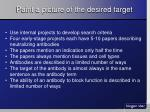 paint a picture of the desired target