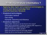 what is literature informatics