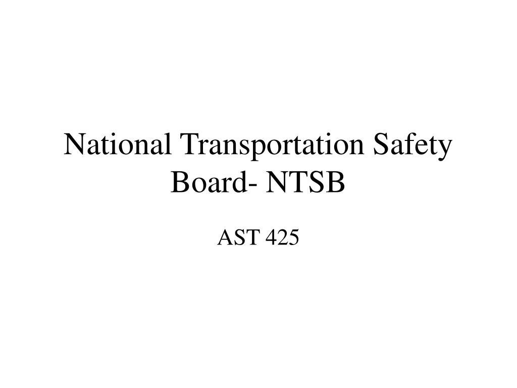 national transportation safety board ntsb l.