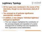 legitimacy typology
