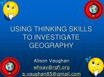 using thinking skills to investigate geography