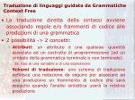 traduzione di linguaggi guidata da grammatiche context free