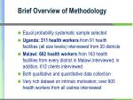 brief overview of methodology