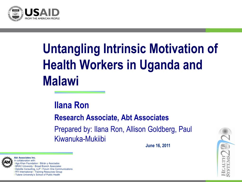 untangling intrinsic motivation of health workers in uganda and malawi l.