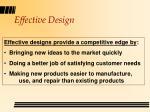effective design