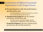 involvement of different functional departments in the design process29