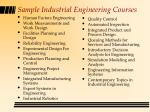 sample industrial engineering courses