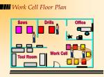 work cell floor plan