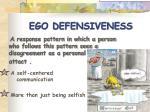 ego defensiveness