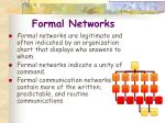 formal networks