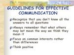 guidelines for effective communication51